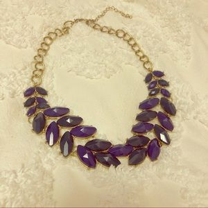 ✨SALE✨ Purple & Green Florets Statement Necklace